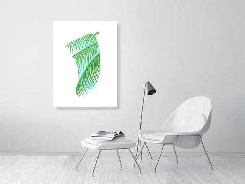 "Image of 30"" x 40"" Three Palms Fin Giclée Surf Art Print - Limited Edition 50"