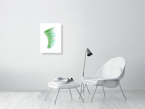 A2 Green Palm Fronds Fin Giclée Surf Art Print - Limited Edition 50