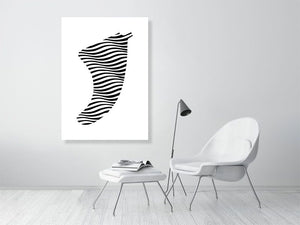 A0 Swell Illusion Fin Giclée Surf Art Print - Limited Edition 50