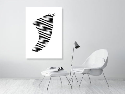 Image of A0 Swell Illusion Fin Giclée Surf Art Print - Limited Edition 50