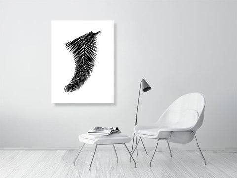 "Image of 30"" x 40"" Palm Leaf Fin Giclée Surf Art Print - Limited Edition 50"