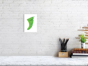 A5 Banana Leaf Fin Giclée Surf Art Print - Limited Edition 50