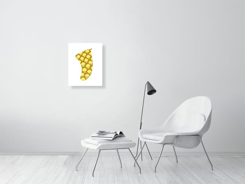 "16"" x 20"" Pineapple Sunrise Fin Giclée Surf Art Print - Limited Edition 50"