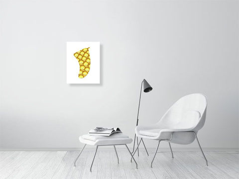 "Image of 16"" x 20"" Pineapple Sunrise Fin Giclée Surf Art Print - Limited Edition 50"