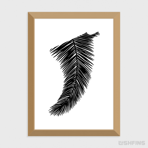 "5"" x 7"" Palm Leaf Fin Giclée Surf Art Print - Limited Edition 50"