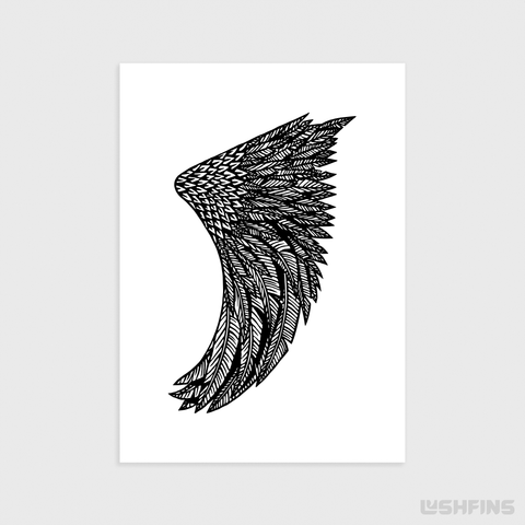 "Image of 5"" x 7"" Wing Fin Giclée Surf Art Print - Limited Edition 50"