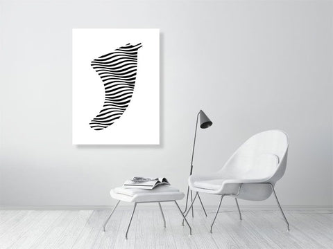 "30"" x 40"" Swell Illusion Fin Giclée Surf Art Print - Limited Edition 50"