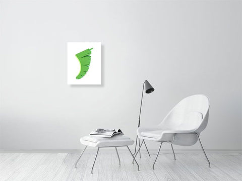 "Image of 16"" x 20"" Banana Leaf Fin Giclée Surf Art Print - Limited Edition 50"