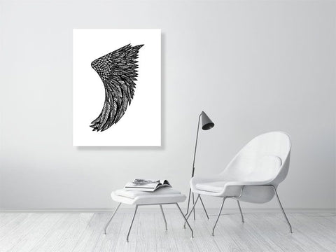 "Image of 30"" x 40"" Wing Fin Giclée Surf Art Print - Limited Edition 50"