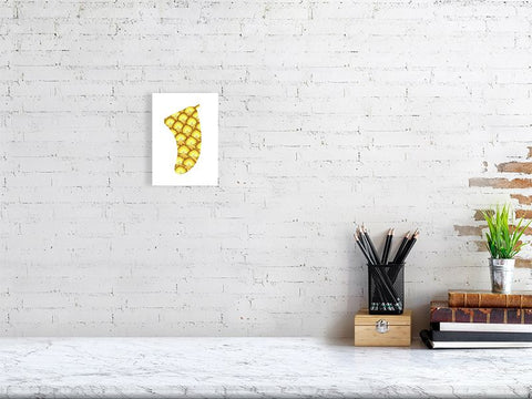 "Image of 5"" x 7"" Pineapple Sunrise Fin Giclée Surf Art Print - Limited Edition 50"