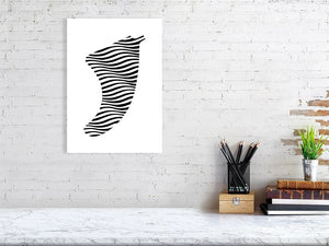 A3 Swell Illusion Fin Giclée Surf Art Print - Limited Edition 50
