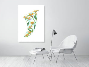 A0 Bird of Paradise Fin Giclée Surf Art Print - Limited Edition 50