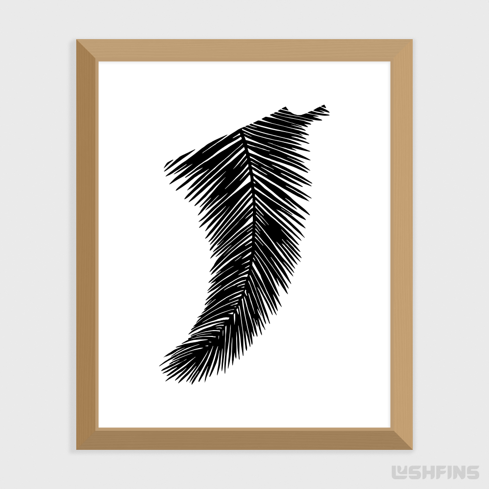 "8"" x 10"" Palm Leaf Fin Giclée Surf Art Print - Limited Edition 50"