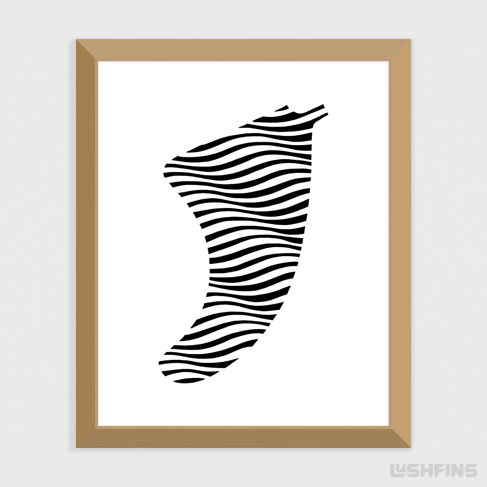 "8"" x 10"" Swell Illusion Fin Giclée Surf Art Print - Limited Edition 50"