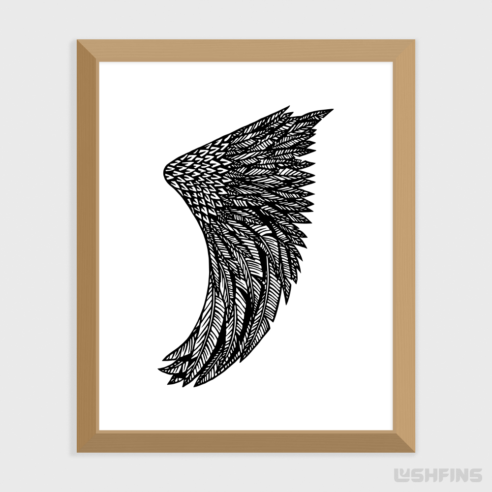 "8"" x 10"" Wing Leaf Fin Giclée Surf Art Print - Limited Edition 50"