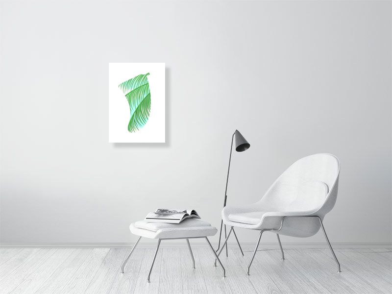 A2 Three Palms Fin Giclée Surf Art Print - Limited Edition 50