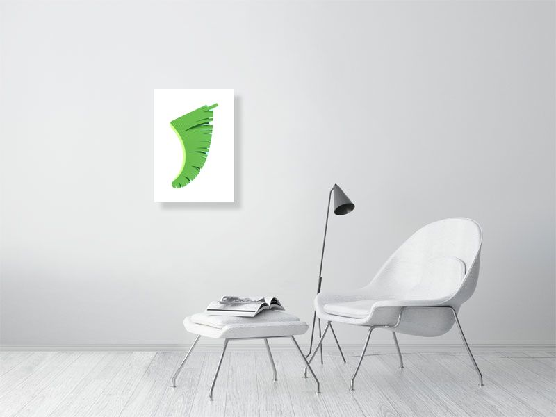 A2 Banana Leaf Fin Giclée Surf Art Print - Limited Edition 50