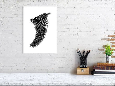 Image of A3 Palm Leaf Fin Giclée Surf Art Print - Limited Edition 50