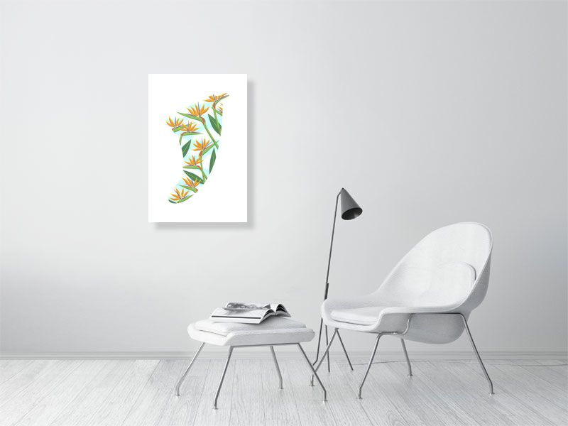 "20"" x 30"" Bird of Paradise Fin Giclée Surf Art Print - Limited Edition 50"