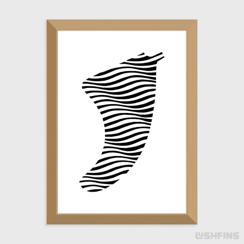 Image of A5 Swell Illusion Fin Giclée Surf Art Print - Limited Edition 50