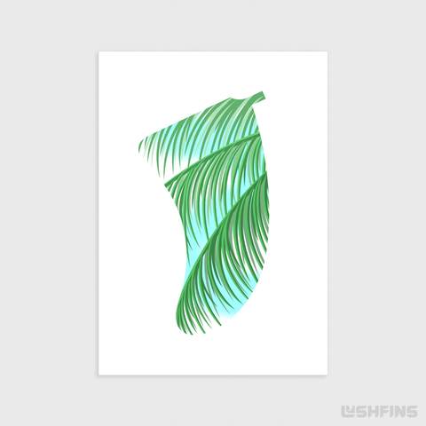 Image of A5 Three Palms Fin Giclée Surf Art Print - Limited Edition 50