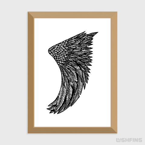Image of A4 Wing Fin Giclée Surf Art Print - Limited Edition 50