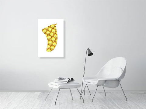 "Image of 20"" x 30"" Pineapple Sunrise Fin Giclée Surf Art Print - Limited Edition 50"