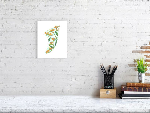 "8"" x 10"" Bird of Paradise Fin Giclée Surf Art Print - Limited Edition 50"