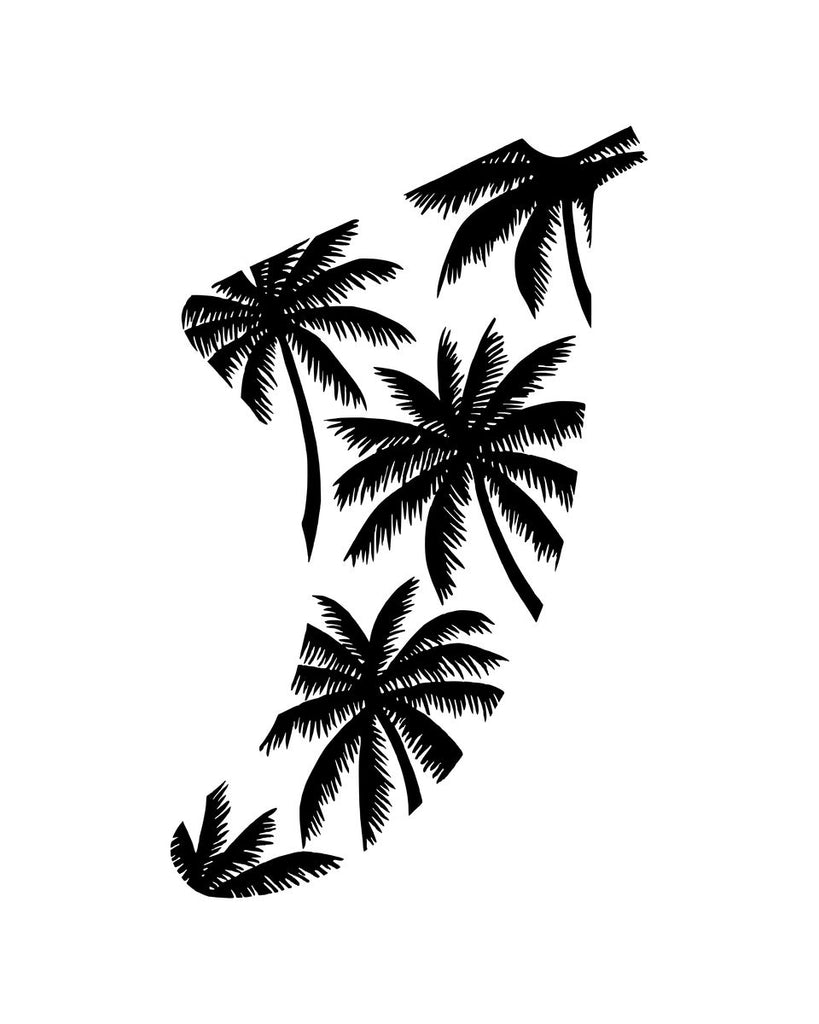 "16"" x 20"" Palm Tree Fin Giclée Surf Art Print - Limited Edition 50"