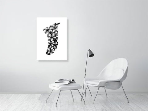Image of A1 Frangipani Flowers Fin Giclée Surf Art Print - Limited Edition 50