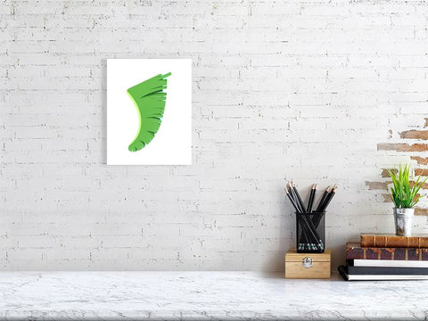 "Image of 8"" x 10"" Banana Leaf Fin Giclée Surf Art Print - Limited Edition 50"