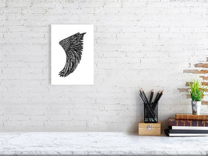 A4 Wing Fin Giclée Surf Art Print - Limited Edition 50