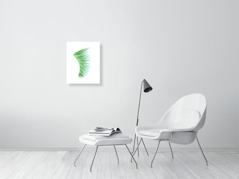 "16"" x 20"" Green Palm Fronds Fin Giclée Surf Art Print - Limited Edition 50"
