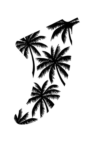 "Image of 20"" x 30"" Palm Tree Fin Giclée Surf Art Print - Limited Edition 50"