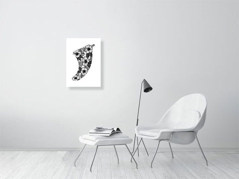 Image of A2 Hibiscus Flowers Fin Giclée Surf Art Print - Limited Edition 50