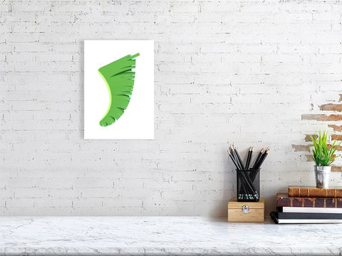 A4 Banana Leaf Fin Giclée Surf Art Print - Limited Edition 50