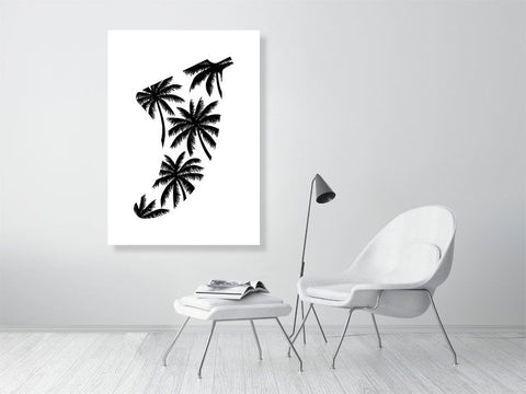 Image of A0 Palm Tree Fin Giclée Surf Art Print - Limited Edition 50