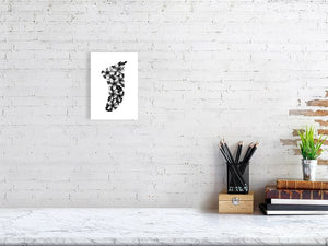 A5 Frangipani Flowers Fin Giclée Surf Art Print - Limited Edition 50