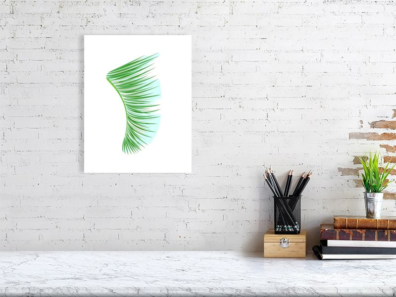 "11"" x 14"" Green Palm Fronds Fin Giclée Surf Art Print - Limited Edition 50"
