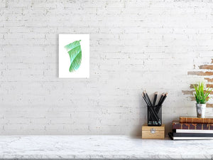 A5 Three Palms Fin Giclée Surf Art Print - Limited Edition 50