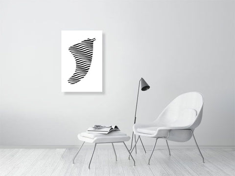 "Image of 20"" x 30"" Swell Illusion Fin Giclée Surf Art Print - Limited Edition 50"