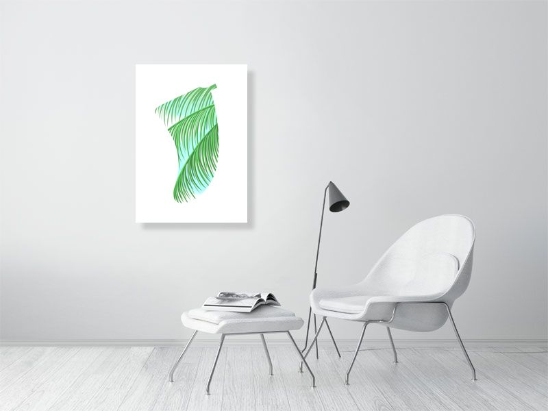 A1 Three Palms Fin Giclée Surf Art Print - Limited Edition 50