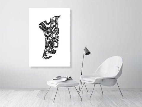 A0 Twisted Tentacles Fin Giclée Surf Art Print - Limited Edition 50