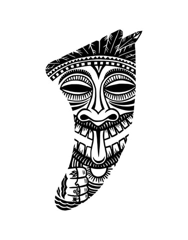 "Image of 11"" x 14"" Tiki Idol Fin Giclée Surf Art Print - Limited Edition 50"