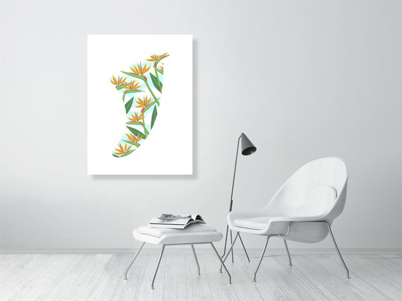 "30"" x 40"" Bird of Paradise Fin Giclée Surf Art Print - Limited Edition 50"