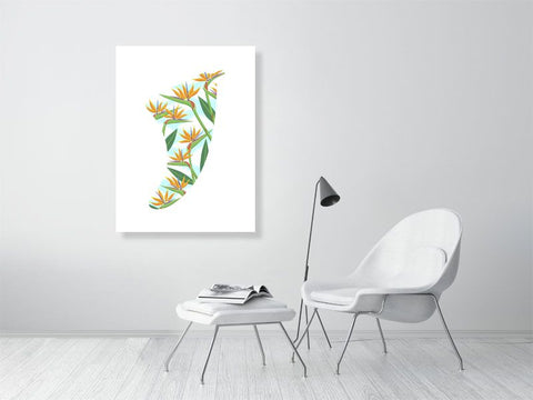 "Image of 30"" x 40"" Bird of Paradise Fin Giclée Surf Art Print - Limited Edition 50"