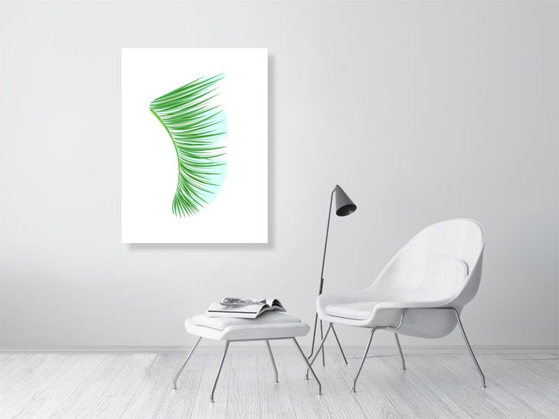 "30"" x 40"" Green Palm Fronds Fin Giclée Surf Art Print - Limited Edition 50"