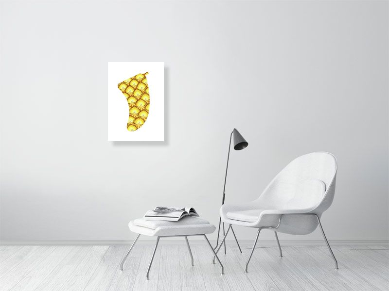 A2 Pineapple Sunrise Fin Giclée Surf Art Print - Limited Edition 50