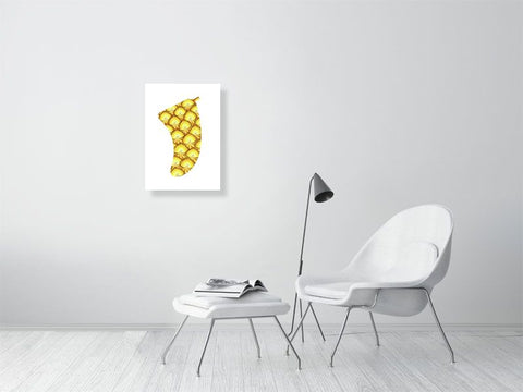 Image of A2 Pineapple Sunrise Fin Giclée Surf Art Print - Limited Edition 50