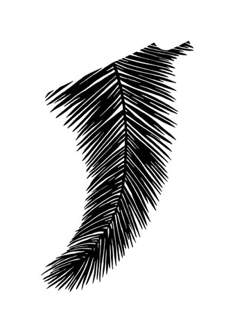 Image of A2 Palm Leaf Fin Giclée Surf Art Print - Limited Edition 50